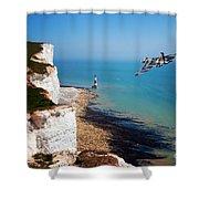 Final Beachy Head Pass Shower Curtain