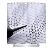 Finances Shower Curtain