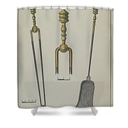 Fire Tongs And Shovel Shower Curtain