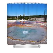 Firehole Spring In Yellowstone National Park Shower Curtain