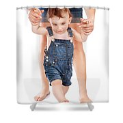 First Baby Steps Shower Curtain