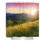 First Beams In Highland Shower Curtain