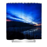 First Light At The Lake Shower Curtain
