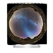 Fish-eye Panorama Of Milky Way Shower Curtain