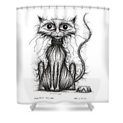 Fish Face The Cat Shower Curtain