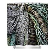 Fish Netting Husavik Iceland 3755 Shower Curtain