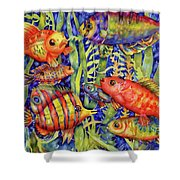 Fish Tales IIi Shower Curtain