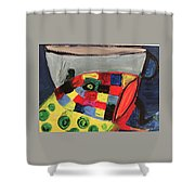 Fish With Cup Shower Curtain