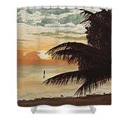 Fisherman At Sunrise Shower Curtain