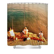 Fishermen In Beirut  Shower Curtain