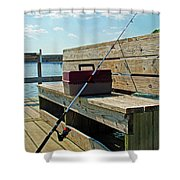 Fishin' Pole Shower Curtain