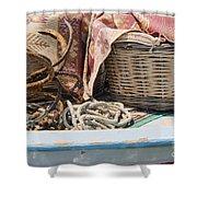 Fishing Baskets Shower Curtain