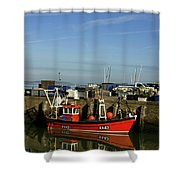 Fishing Boats At Whitstable Harbour 02 Shower Curtain