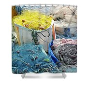 Fishing Industry In Limmasol Shower Curtain