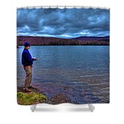 Fishing Limekiln Lake Shower Curtain