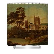 Fishing On The River Shower Curtain