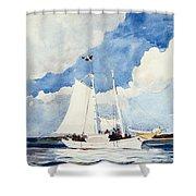 Fishing Schooner Shower Curtain