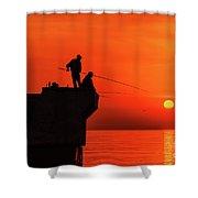 Morning Fishing 1 Shower Curtain