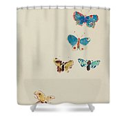 Five Butterflies Shower Curtain