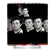 Five Robert Mitchum's Young Billy Young Set Old Tucson Arizona 1968-2012 Shower Curtain