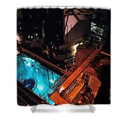 Flamanville Nuclear Power Plant Shower Curtain