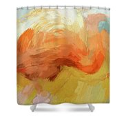 Flamingo Scratches Shower Curtain