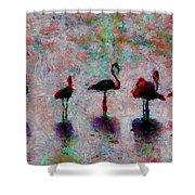 Flamingos Family Shower Curtain