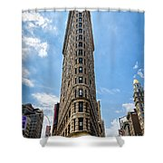 Flatiron Building  Nyc Color Shower Curtain