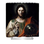 Flemish Salvator Mundi Shower Curtain