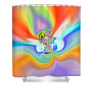 Flexibility 39c1 Shower Curtain