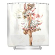 Flirtation In The Breeze Shower Curtain