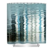 Floating On Blue 45 Shower Curtain