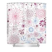 Floral Doodles Shower Curtain
