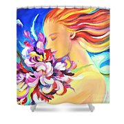 Floral Innocence 2 Shower Curtain