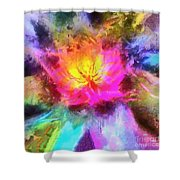 Floral Mandala 01 Shower Curtain