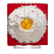 Flour And Eggs Shower Curtain