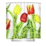 Flower Frame Border Shower Curtain