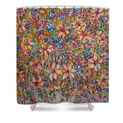 Flower Galaxy Shower Curtain