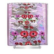 Flower Mania Anemone Fantasy Wave Design Created Of Garden Colors Unique Elegant Decorations Shower Curtain