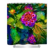 Flowers Confusion Shower Curtain