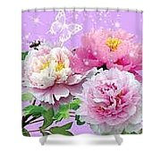 Flowers Image Shower Curtain