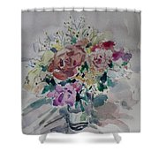 Flowers In A Glass Shower Curtain