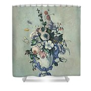 Flowers In A Rococo Vase Shower Curtain