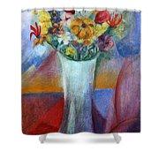 Flowers In Vase Vii Shower Curtain