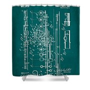 Flute Patent Drawing 2f Shower Curtain