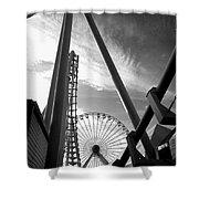 Focus On The Ferris Wheel Shower Curtain