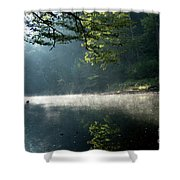 Fog And Reflection On Stream Shower Curtain