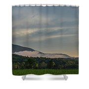 Fog Forming In The Mountains Shower Curtain