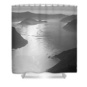 Fog Over The Iseo Shower Curtain