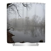 Foggy River  Shower Curtain